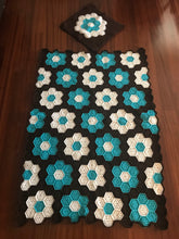 Load image into Gallery viewer, BLANKET+PILOW HANDMADE CROCHET