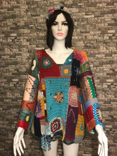 Load image into Gallery viewer, CROCHET VEST VINTAGE , HANDMADE, STAR FIGURE