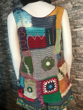 Load image into Gallery viewer, HANDMADE VEST, CROCHET VINTAGE DESIGN