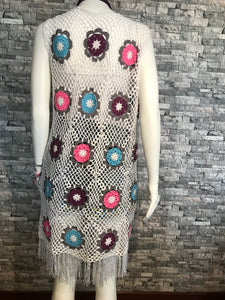 CROCHET WOMEN TUNIC-PAREO, DRESS, HANDMADE