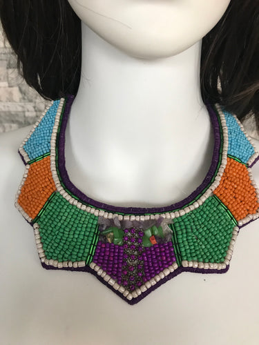 HANDMADE JEWELRY NECKLACE EMBROIDERY