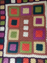 Load image into Gallery viewer, CROCHET BLANKET HANDMADE COLORFULL,