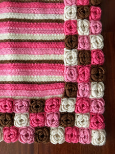 CARPET HANDMADE CROCHET, COLORFULL,