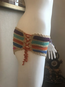 HANDMADE BIKINI SET, RAINBOW COLOUR. CROCHET