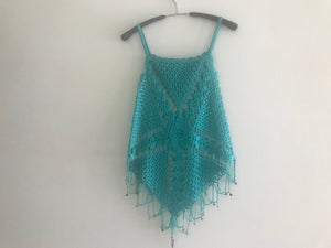 HANDMADE WOMEN VEST, GREEN COLOUR. BEAD