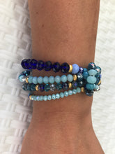 Load image into Gallery viewer, WOMEN BRACELETS  JEWELRY, BLUE COLOUR, BEADED, GIRLS BRACELETS
