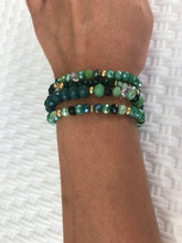 Load image into Gallery viewer, WOMEN BRACELETS WRAP,  JEWELRY, GREEN COLOUR, BEADS