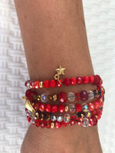 Load image into Gallery viewer, WOMEN BRACELETS JEWELRY, RED COLOUR, BEADS AND METALS