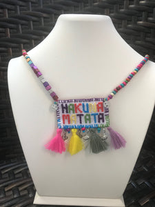 GIRLS BIB NECKLACES, LION KINGS, HANDMADE PRODUCT