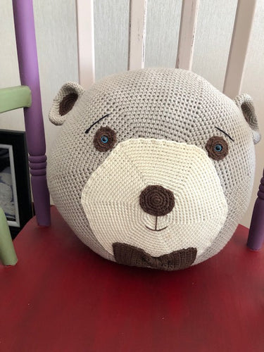 PILOW  BEAR CHARACTER, HANDMADE, PRETTY