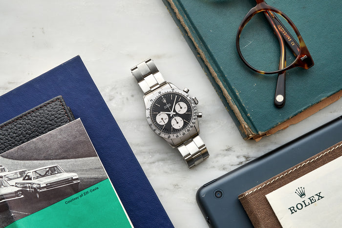 Image for: Vintage Watches: Two Rolex Daytona 6239s, A 1940s Oversized Doxa Chronograph, And A 1950s Universal Genève Reference 20218
