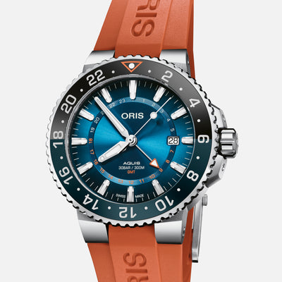 Oris Aquis GMT Carysfort Reef Limited Edition On Rubber Strap