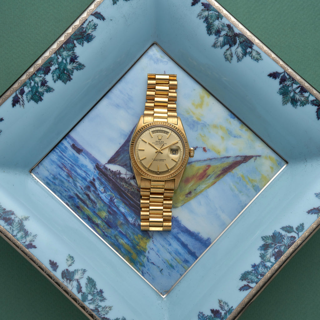 1972 Rolex Day-Date Reference 1803 In Yellow Gold