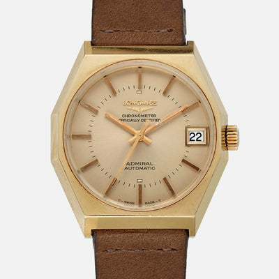 1970s Longines Admiral Automatic Reference 2330 In 18k Yellow Gold