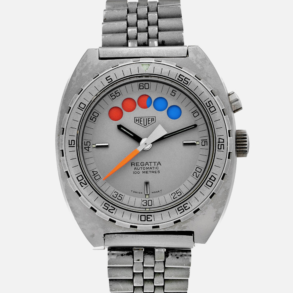 1980s Heuer Regatta Reference 134.603 In Grey PVD-Coated Steel