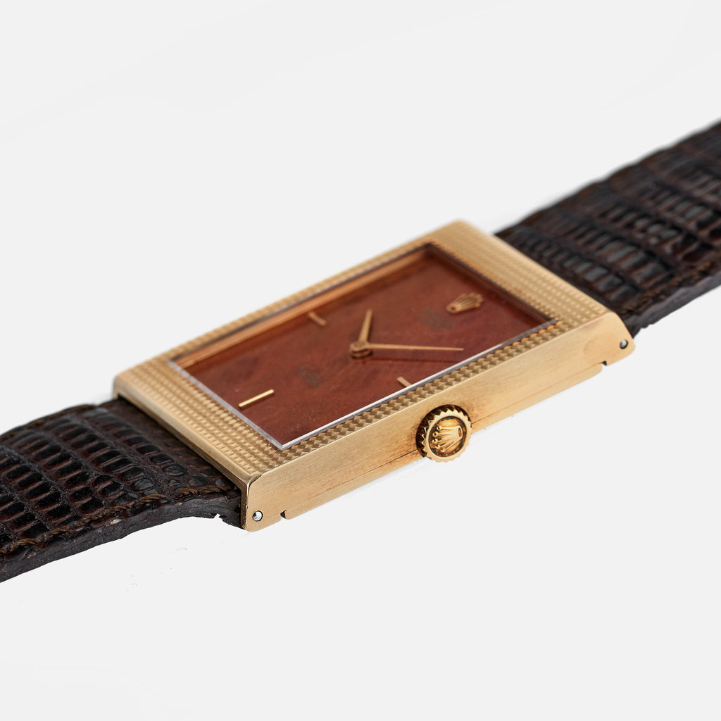 1976 Rolex Cellini Reference 4127 With Wood Dial