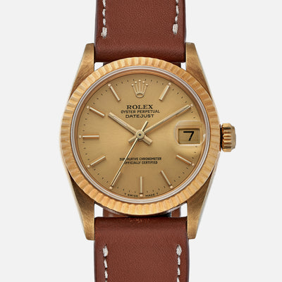 1988 Rolex Datejust Reference 68278 In 18k Yellow Gold