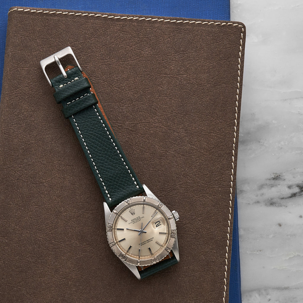 The McBride Watch Strap in Hunter Green