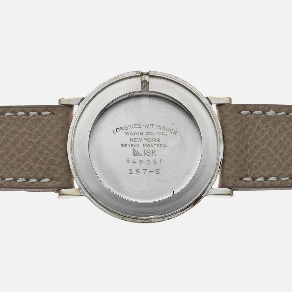 1950s Longines-Wittnauer Mystery Reference 167-B In 18k White Gold