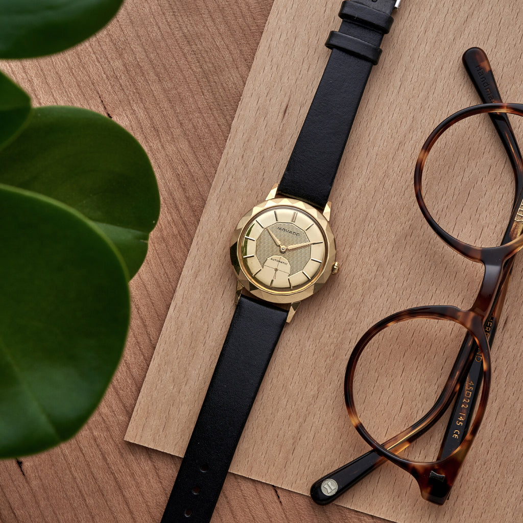 1960s Movado Dress Watch In 18k Gold