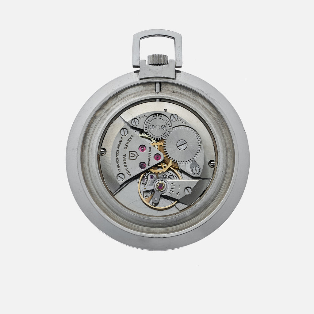 1960s Universal Genève Pocket Watch In Steel