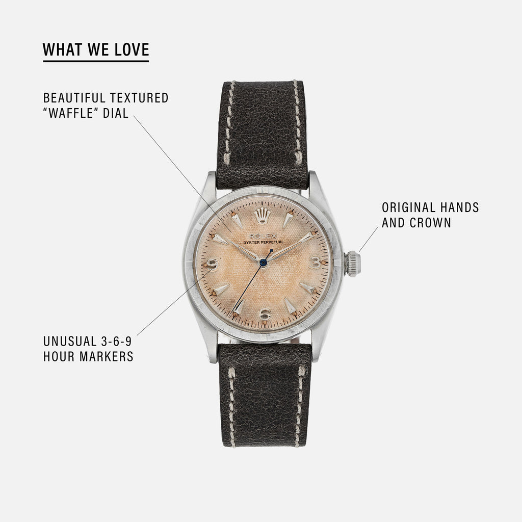 1951 Rolex Oyster Perpetual Reference 6085 With 'Waffle' Dial