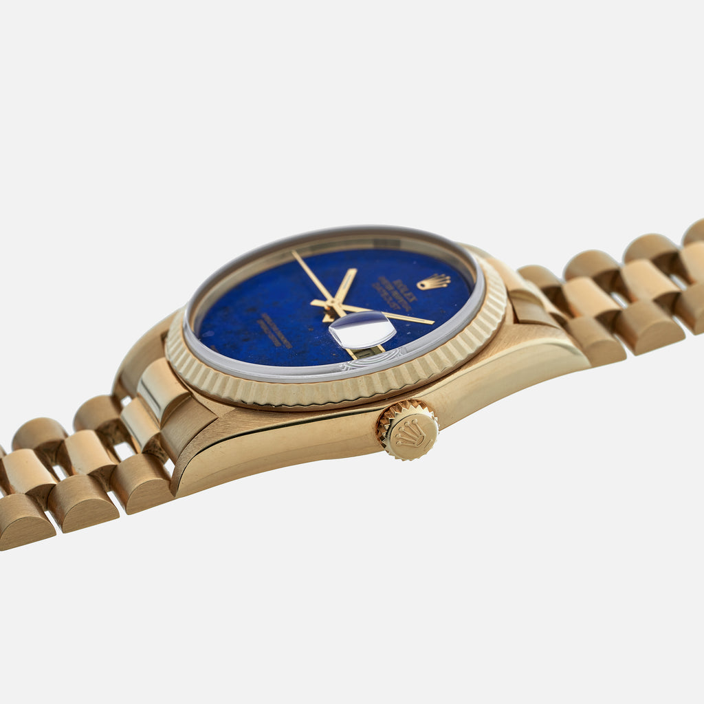 1980 Rolex Datejust Reference 16018 With Lapis Lazuli Dial