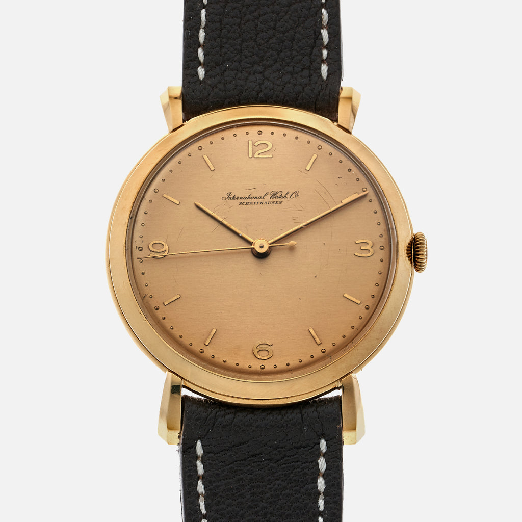 1960s IWC Dress Watch In Yellow Gold