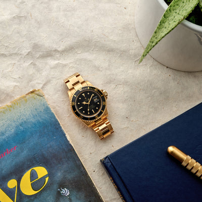 1983 Rolex Submariner Reference 16808 In Gold alternate image.