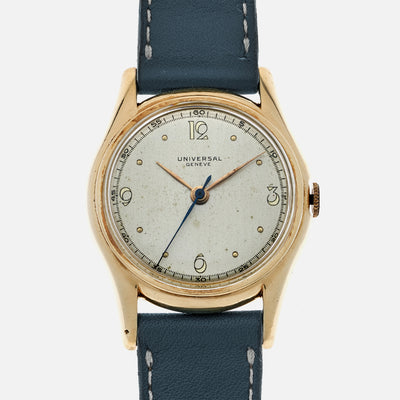 1940s Universal Genève Reference 50501 In 14k Yellow Gold