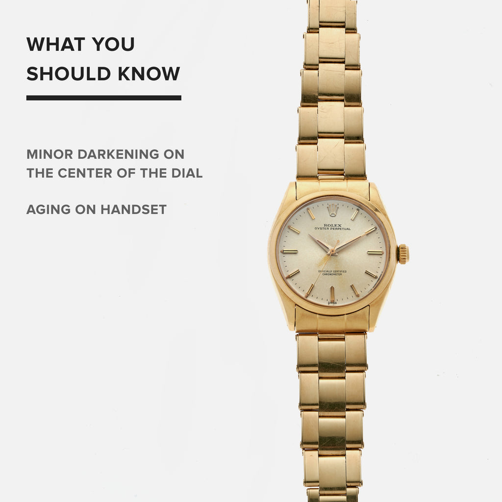 factory nouveau style et luxe bonne vente 1958 Rolex Oyster Perpetual In 18k Yellow Gold With 14k Gold Oyster Bracelet