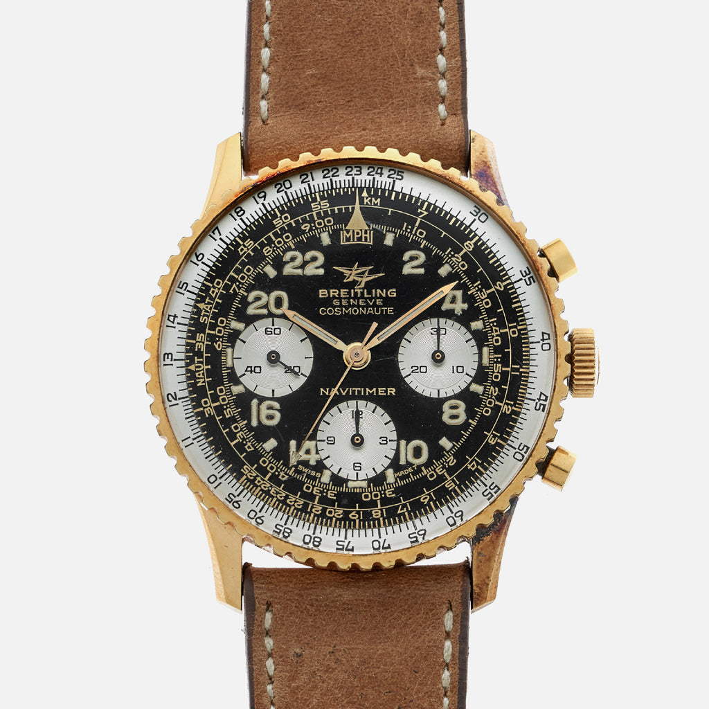 1960s Breitling Navitimer Cosmonaute Gold-Plated Reference 809 With 24-Hour Dial