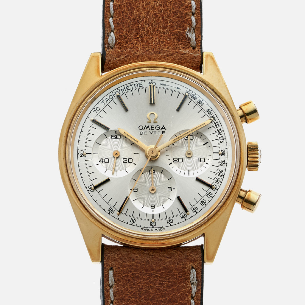 1960s Omega Seamaster DeVille Gold-Plated Chronograph Reference 145.018