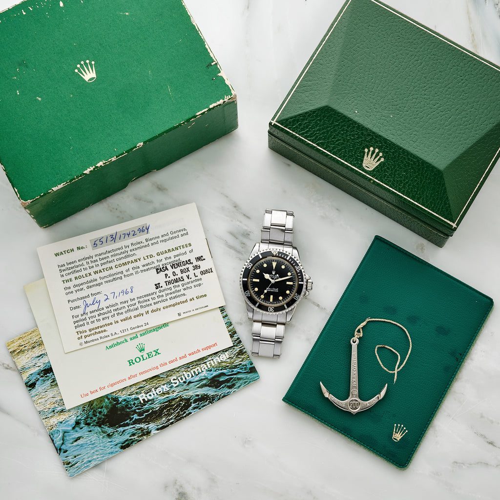 1968 Rolex Submariner Ref. 5513 Full Set