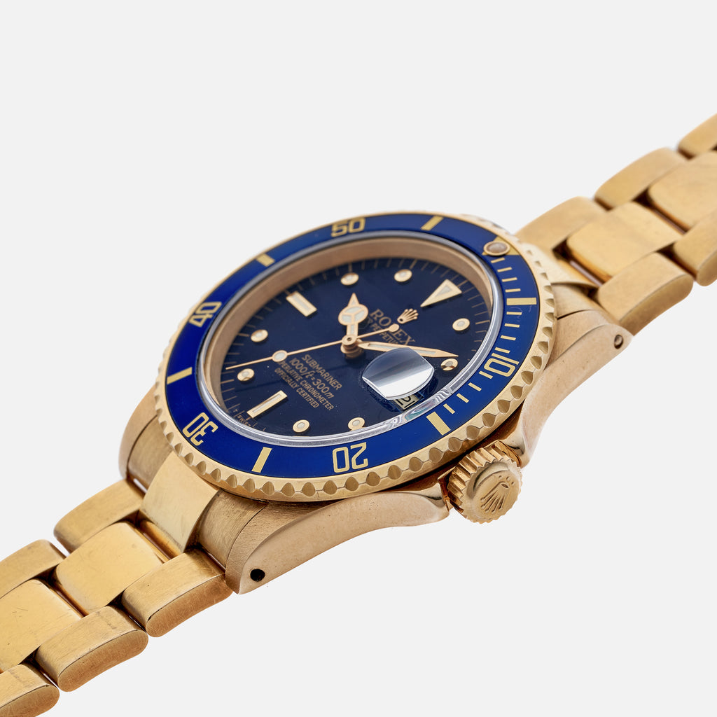 1982 Rolex Submariner Reference 16808 In Gold