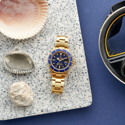 1982 Rolex Submariner Reference 16808 In Gold alternate image.