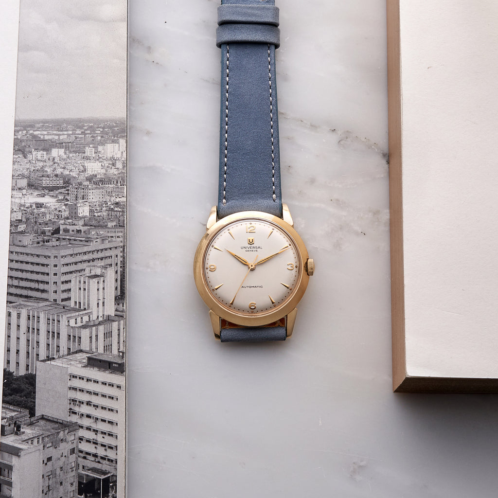 1950s Universal Genève In 14k Gold With Bumper Movement