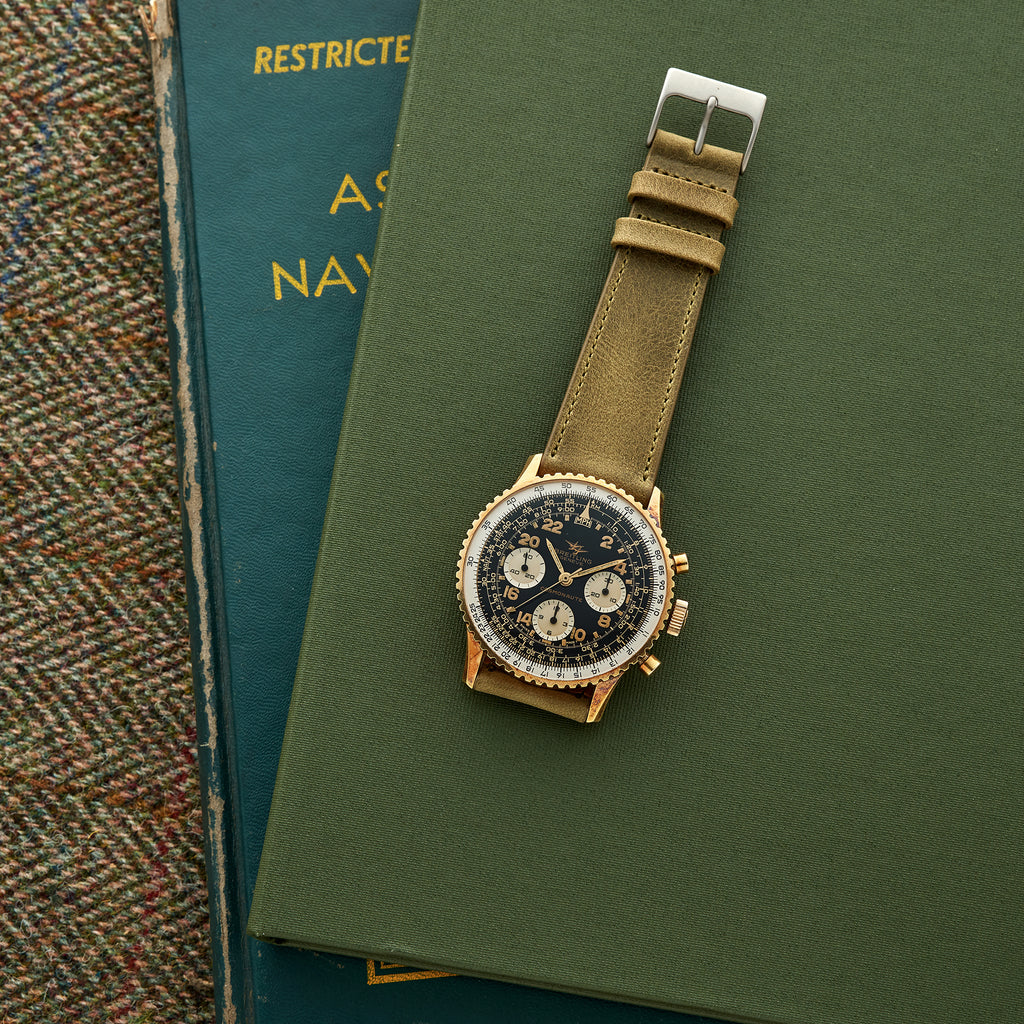 1960s Breitling Cosmonaute Gold-Plated Ref. 809 With 24-Hour Dial