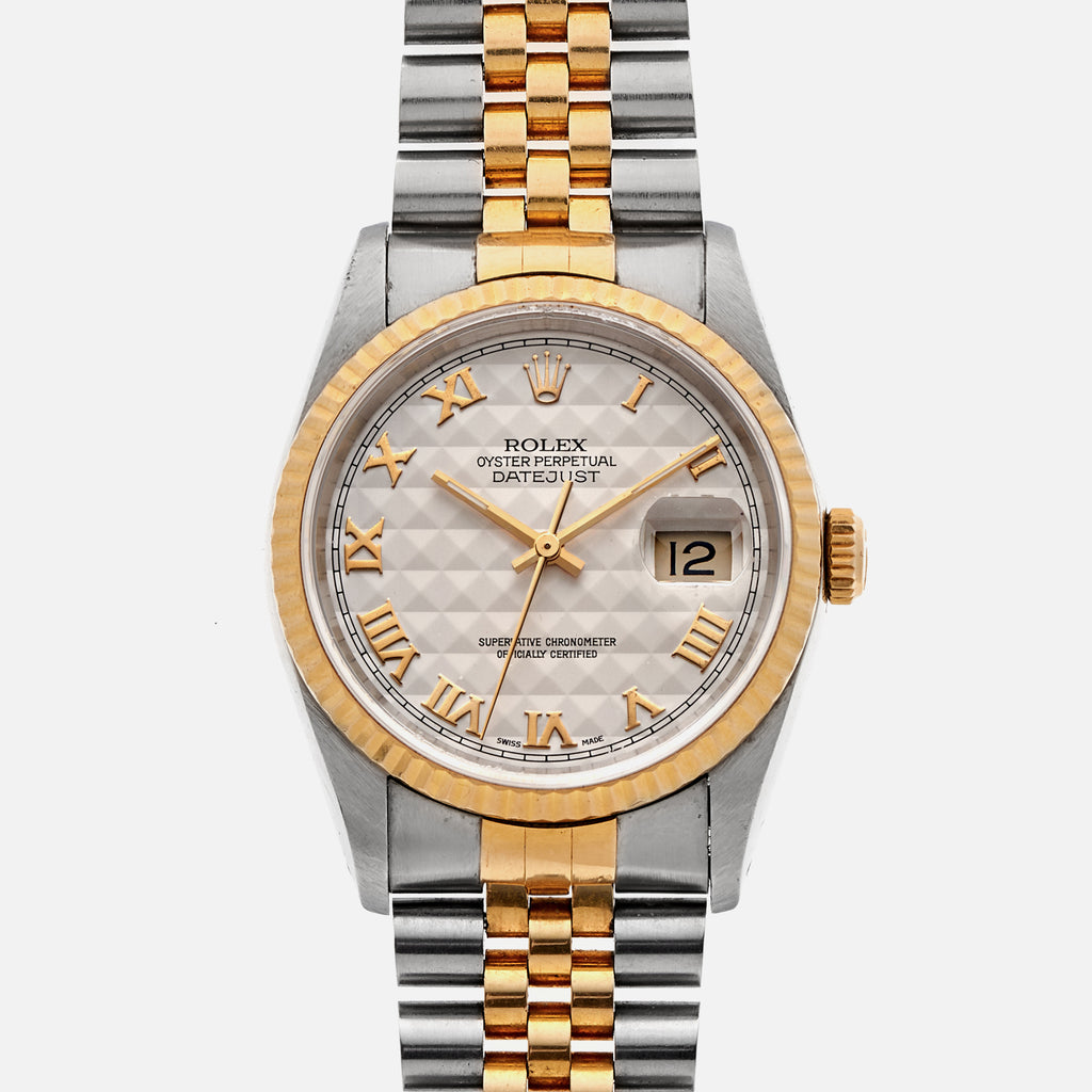 1991 Two-Tone Rolex Datejust Reference 16233 With Pyramid Dial