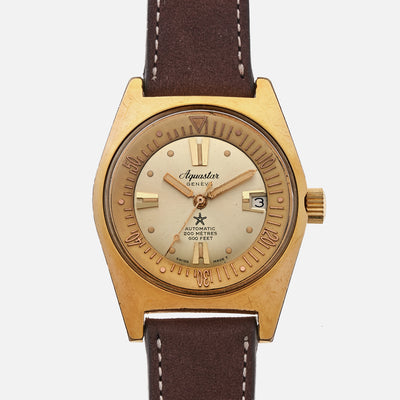 1960s Aquastar 63 Gold-Plated Diver Reference 1903