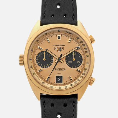 1972 Heuer Carrera 'Ferrari' Reference 1158CHN In 18k Gold