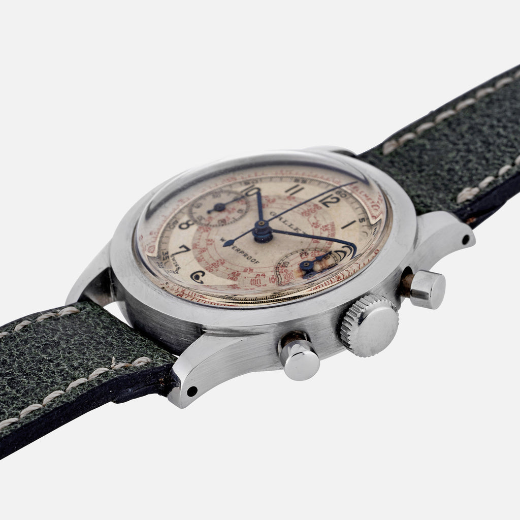 1940s Gallet MultiChron 30M 'Clamshell' Chronograph