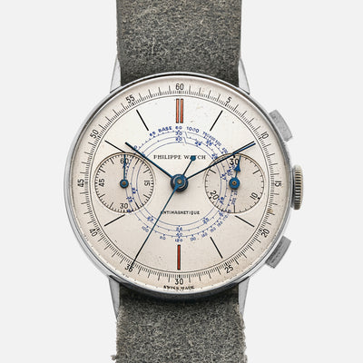 1940s Philippe Watch Chronograph Ref. 2519 With Snail Dial