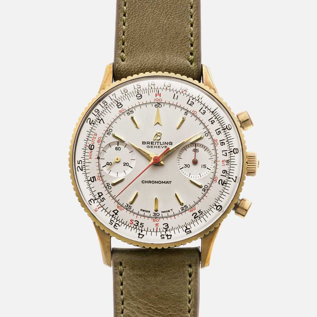 1960s Breitling Chronomat Gold-Plated Ref. 808