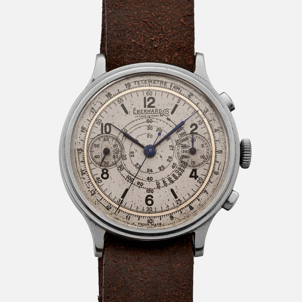 1940s Eberhard Pre-Extra Fort Single-Button Chronograph