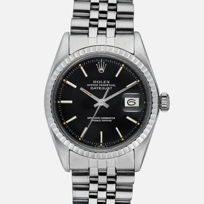 1970s Rolex Datejust Reference 1603 With Black Dial