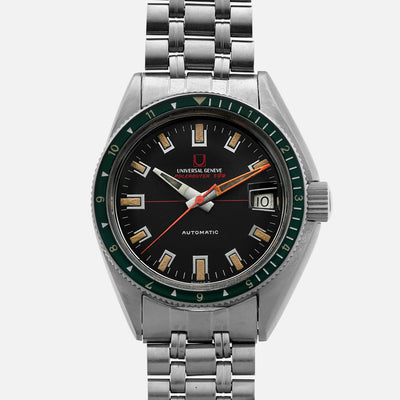 1960s Universal Genève Polerouter Sub Ref. 869120/02 With Green Bezel