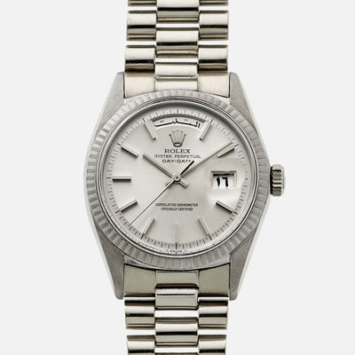 1974 Rolex Day-Date Ref. 1803 In 18k White Gold With Arabic Calendar