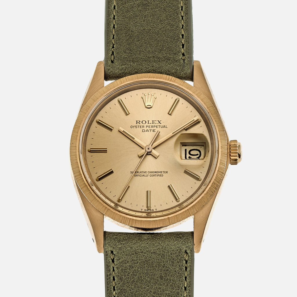 1971 Rolex Date Ref. 1511 In 18k Gold With 'Bark' Bezel