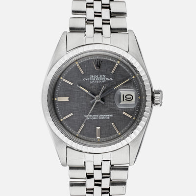 1972 Rolex Datejust Reference 1603 With Rare Sigma Linen Dial